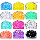 [12 Color Pack] SHEING Water Beads, Water Gel Beads Pearls for Vase Filler, Wedding Centerpiece, Home Decoration, Plants, Sensory Toy - 5 Grams per Pack
