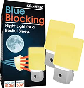 MiracleLED 604674 Blue Blocking Night Light, Amber Glow