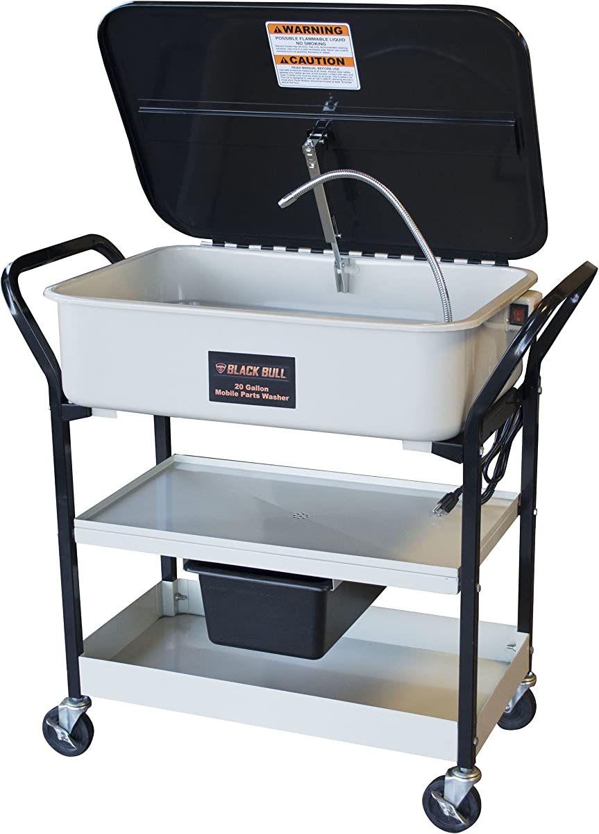 Super parts washer rolling cart