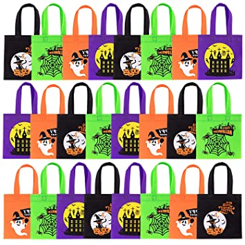 Amazon.com: Whaline Bolsas de Halloween no tejidas, 24 ...