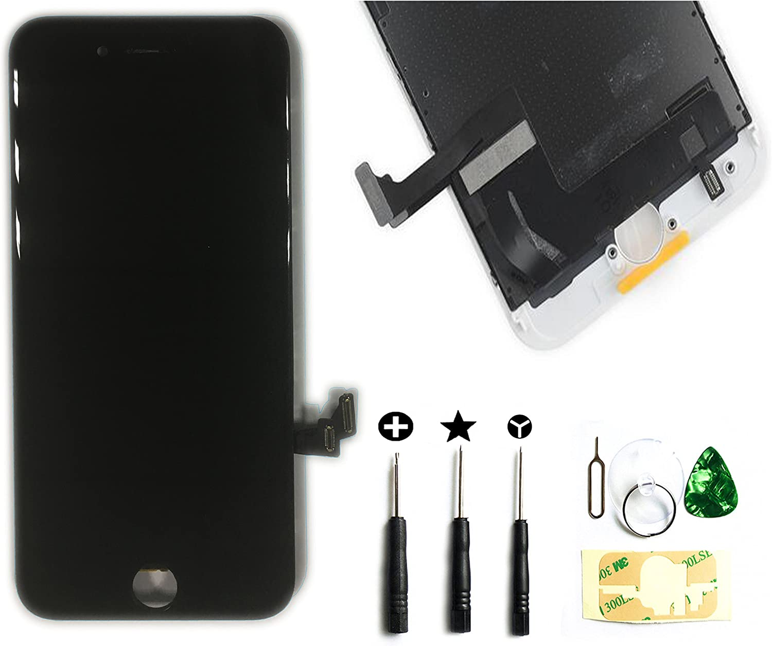 ZTR A1660, A1778, A1779 Replacement Digitizer Touch Screen LCD Assembly Display for iPhone 7 4.7 inch with Repair Tool Kit Black