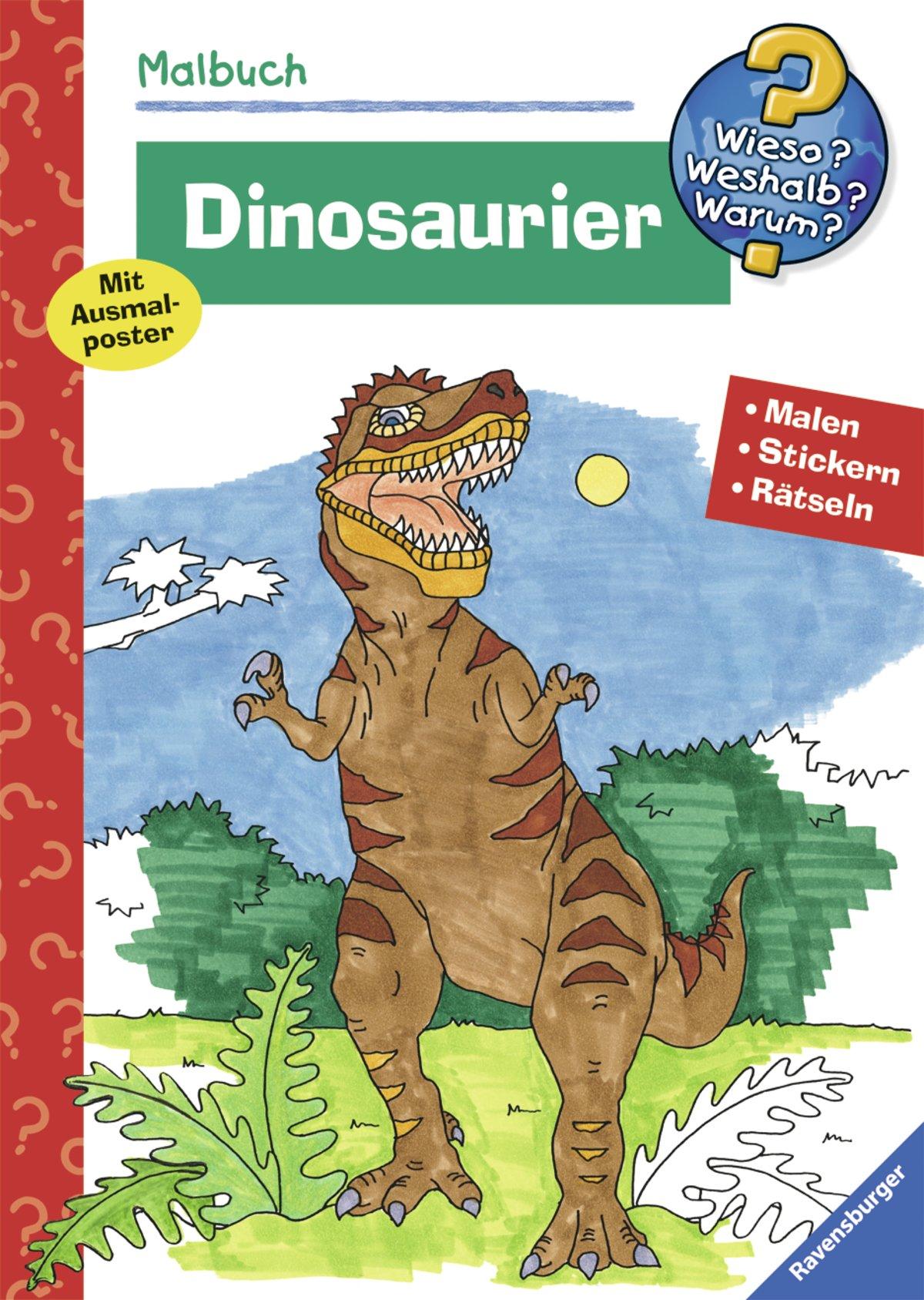 Dinosaurier (Wieso? Weshalb? Warum? Malbuch) (Wieso? Weshalb? Warum? Malen, spielen und rätseln)