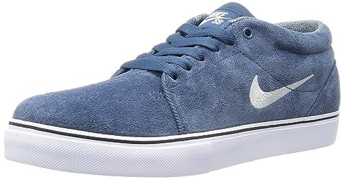 the latest cea3d baf6a Nike Satire Mid, Zapatillas de Skateboarding para Hombre, AzulBlanco (New  SlateLt Base Grey-White), 43 EU Amazon.es Zapatos y complementos