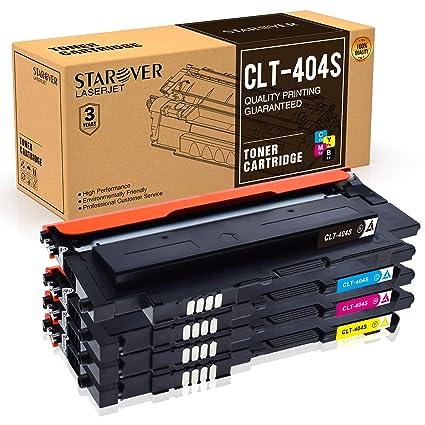 STAROVER 4x CLT-404S (CLT-K404S CLT-C404S CLT-M404S CLT-Y404S) Cartuchos De Tóner Compatible Para Samsung Xpress Samsung Xpress C480 C480W C480FN ...
