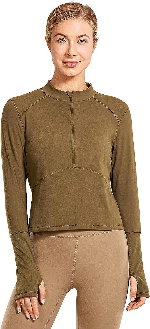 CRZ YOGA Femmes /à Manches Longue Chemise T-Shirt Hauts de Sport Running