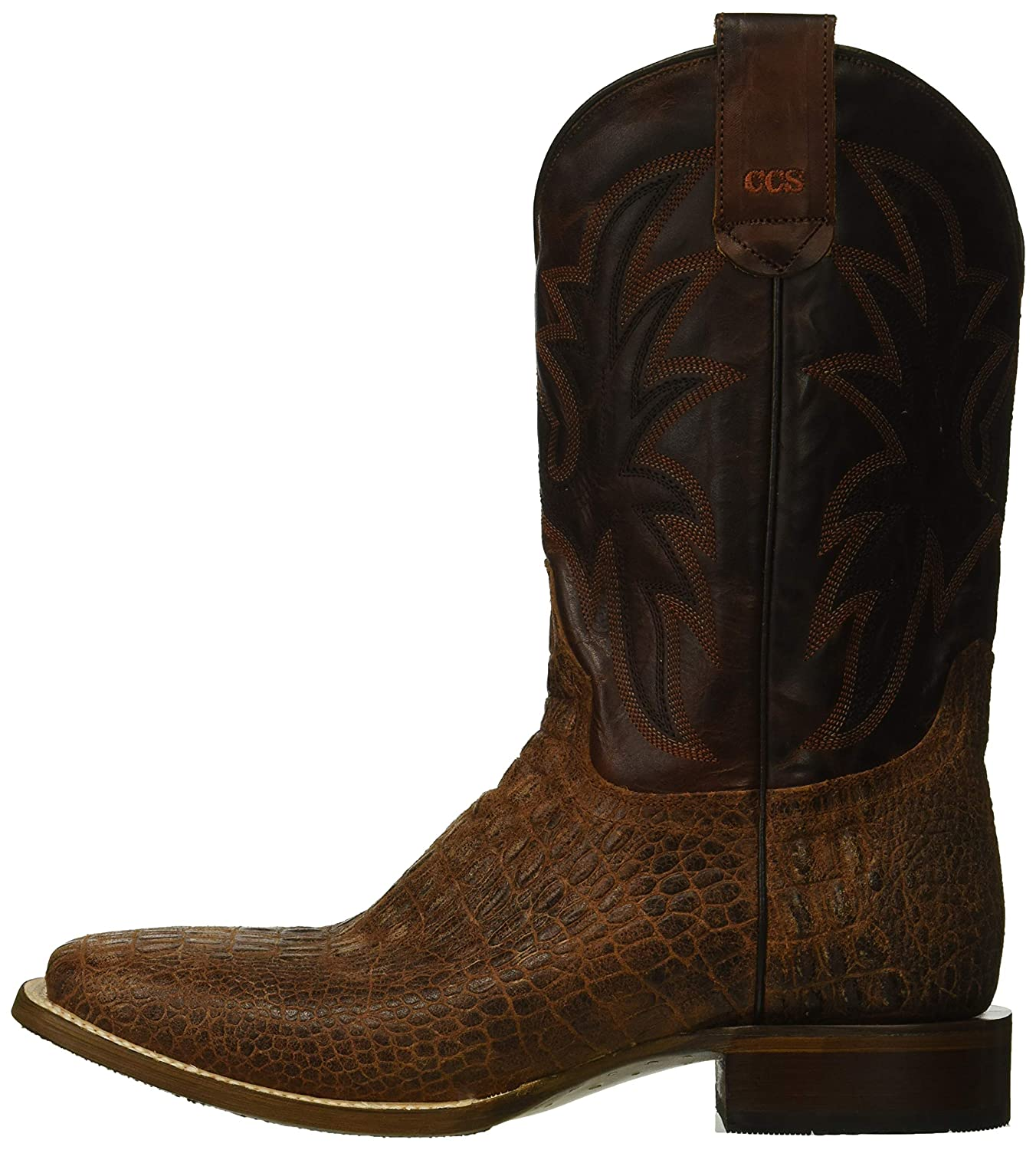 a4dec233a1b ROPER Men's Pierce Embossed Caiman Sidewinder Concealed Carry System Cowboy  Boot
