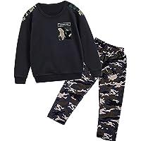 CRAZY GOTEND Conjunto de ropa de para niños pequeños conjuntos de ropa para bebés cálidos trajes de camuflaje para niños…