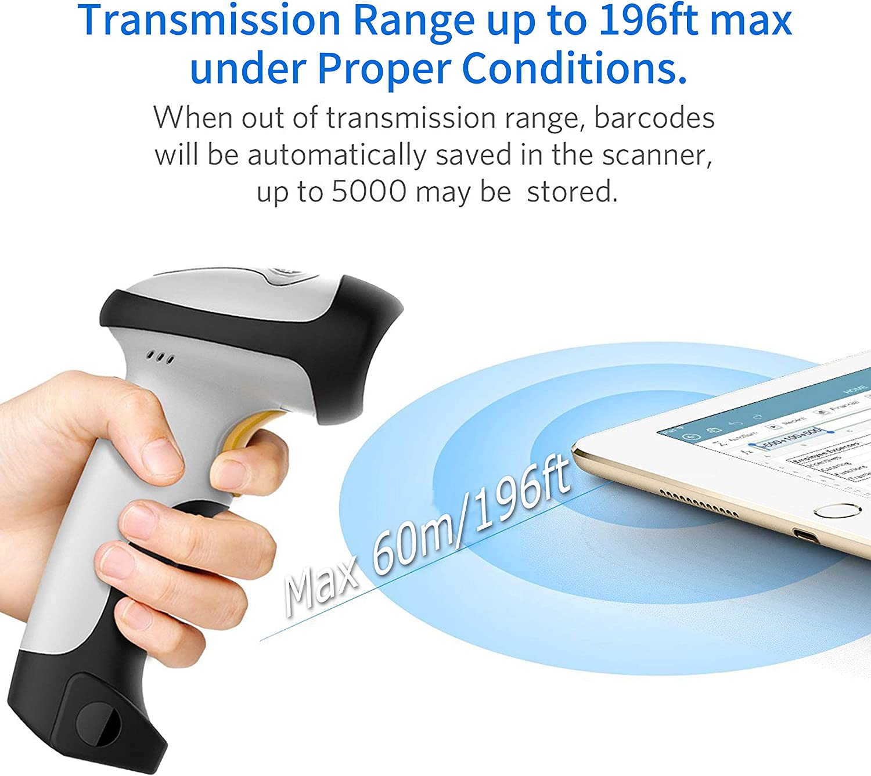 TEEMI Bluetooth Barcode Scanner Laser Handheld Bar Code Reader Iphone Android