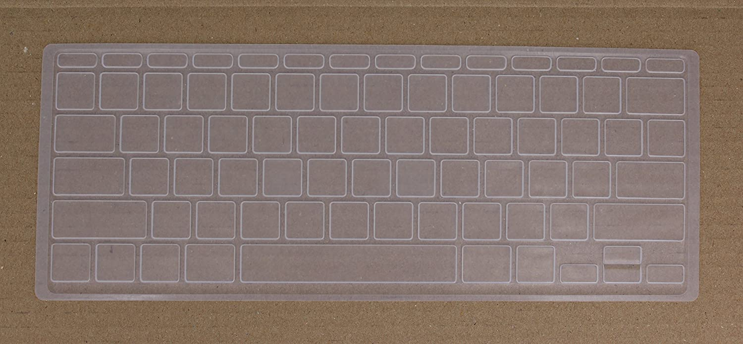 Saco Silicone Keyboard Protector Skin Cover for/Apple/MD711HN//B MacBook Air 11.6-inch Laptop-Transparent