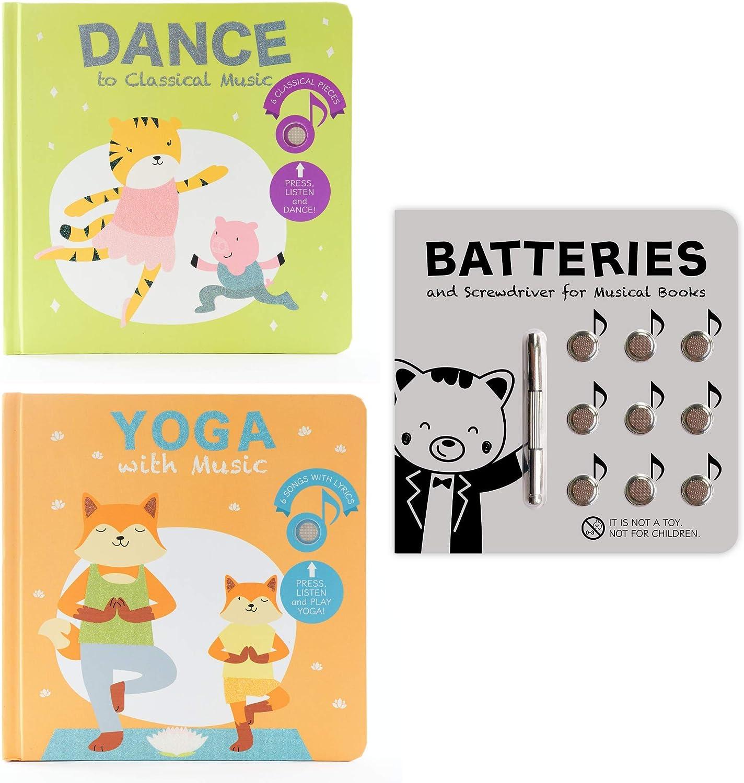 Cali's Books Movement Bundle Dance to Classical Music, Yoga with Music Battery Kit. Mom's Choice Award Winners Sound Books