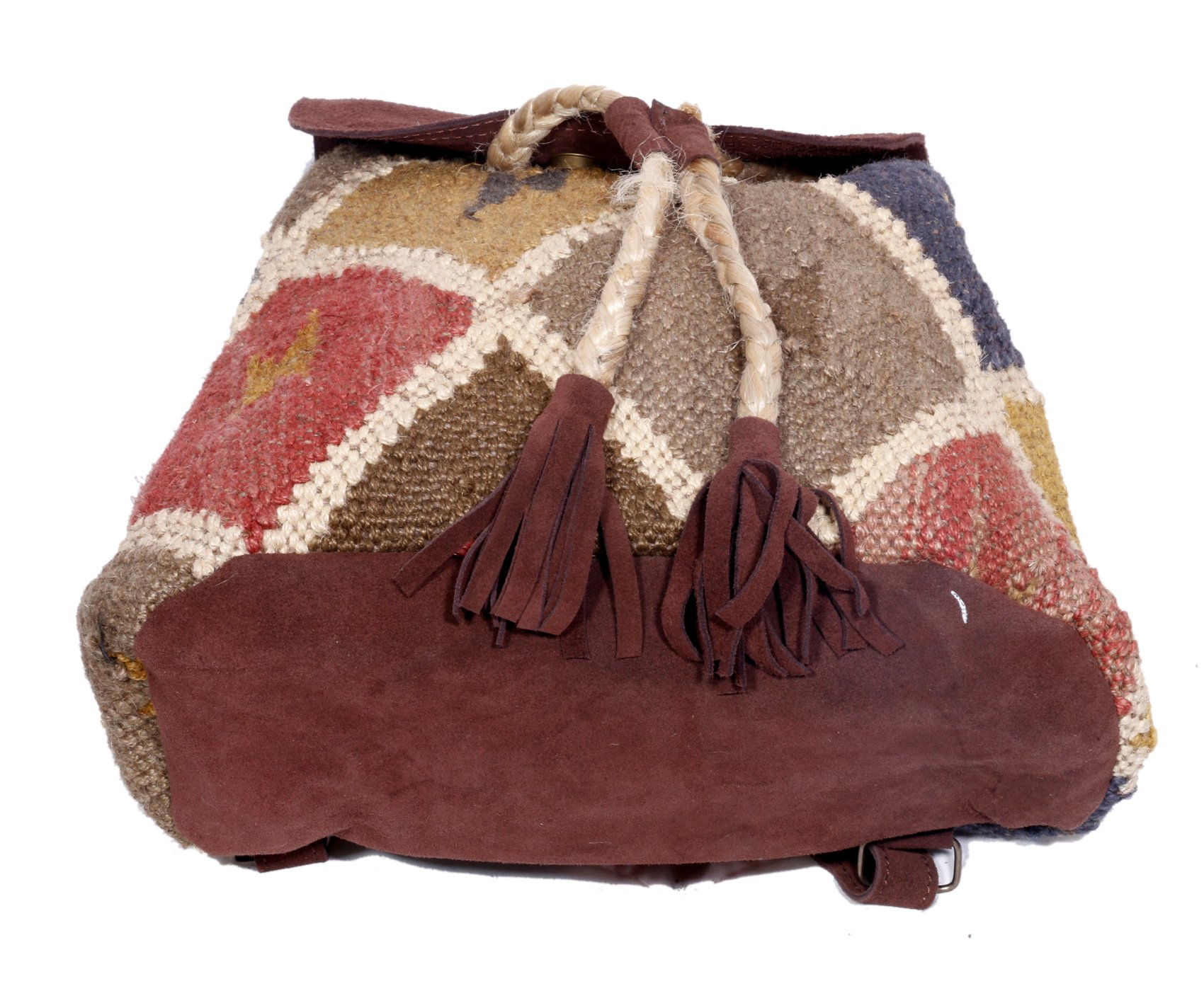 Indistar Women's Vintage Handmade Ethnic Kilim and Leather Back Pack Bag by Indistar (Image #7)