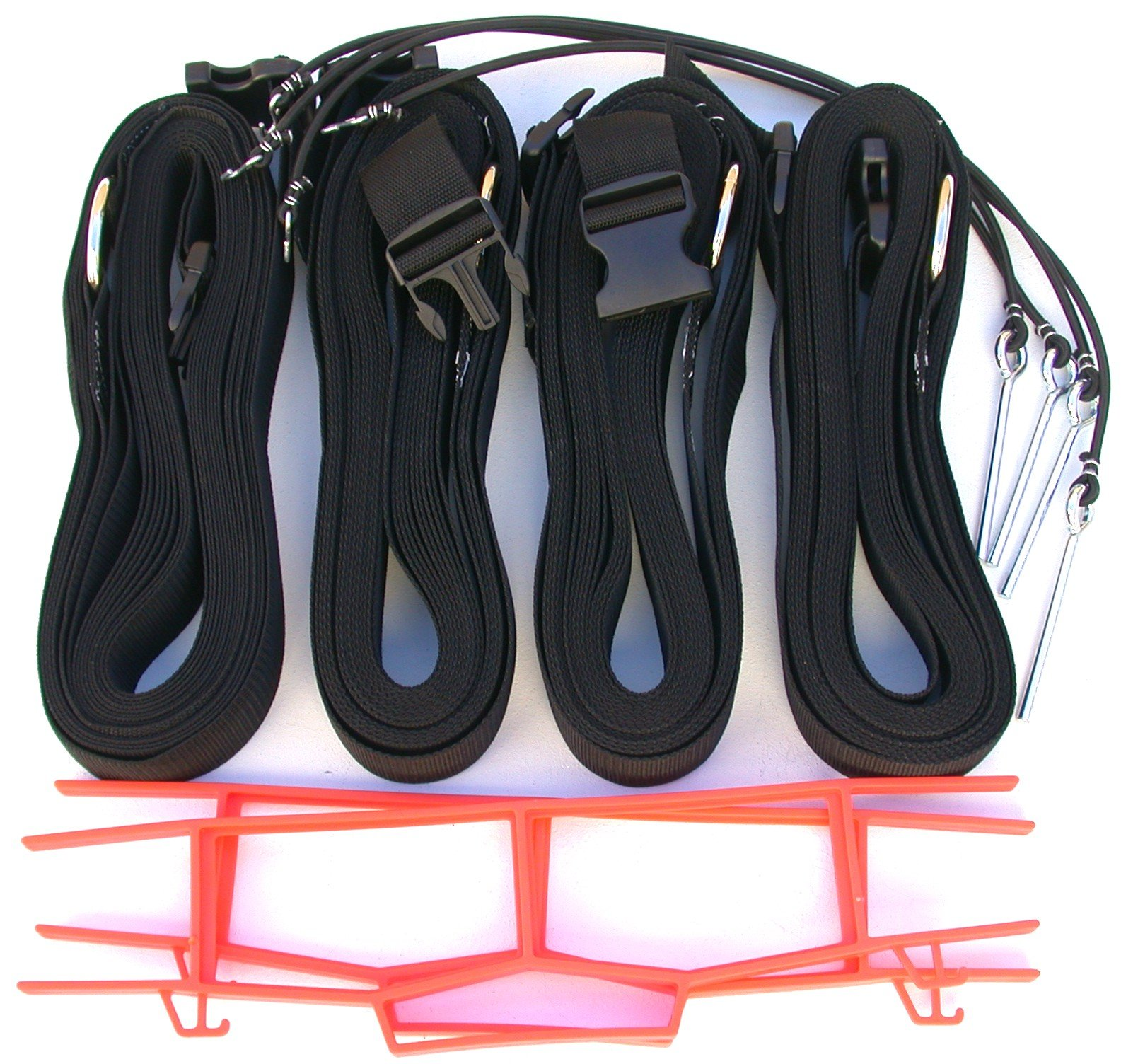 Home Court 19 AG Volleyball Adjustable Boundary Webbing, Black by Home Court (Image #1)