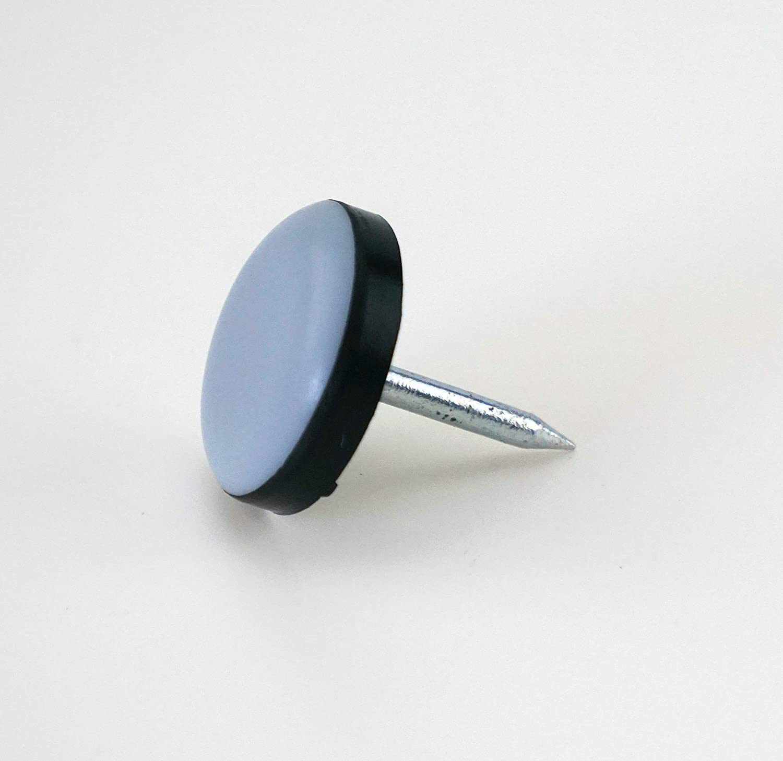DFM –  Tacos para muebles (16 Redondo Con clavo Diá metro 22 mm –  5 mm de grosor/recubrimiento de PTFE/teflongleiter/suelo para sillas S&S-Shop
