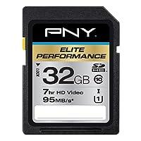 PNY Elite Performance 32 GB High Speed SDHC Class 10 UHS-I, U1 up to 95 MB/Sec Flash Card (P-SDH32U195-GE)
