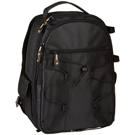 f4e83ac952 Amazon.com   AmazonBasics Backpack for SLR DSLR Cameras and Accessories -  Black   Photographic Equipment Bags   Camera   Photo