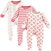 Touched by Nature Unisex Baby Organic Cotton Sleep and Play, Tulip 3-Pack, 0-3 Months (3M)