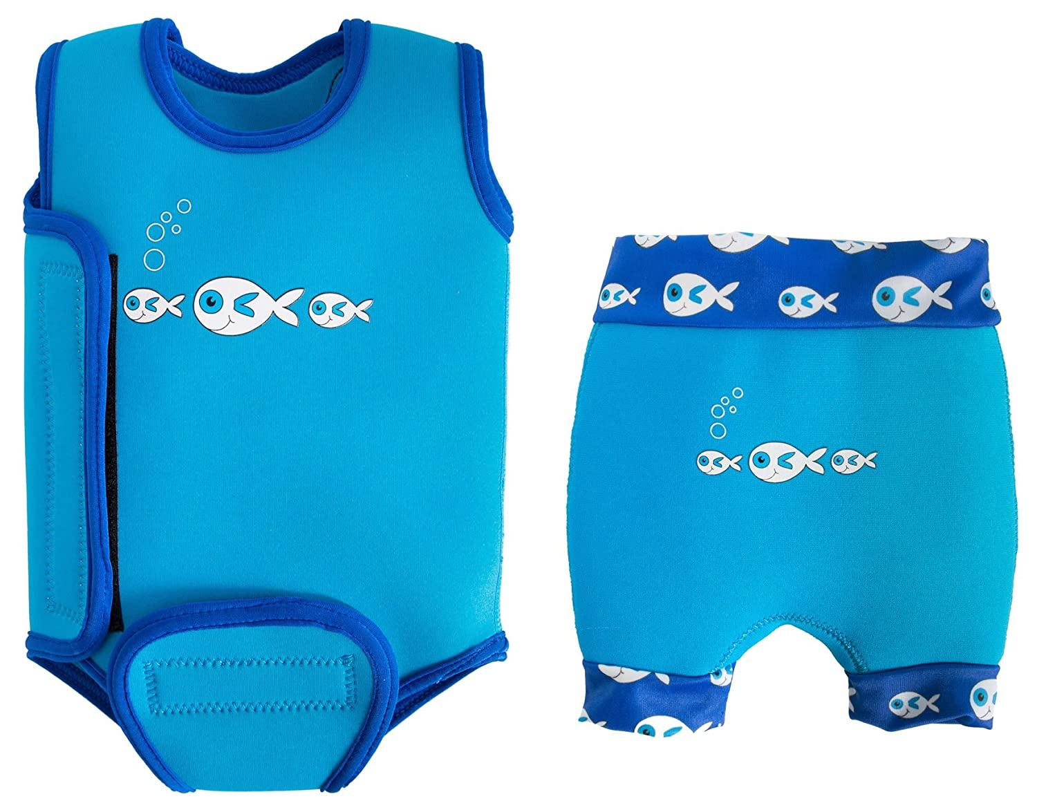 SwimBest Baby Wetsuit & Nappy Set - Blue/Lime-6-12 mths/6-8 kgs Swimbest Ltd