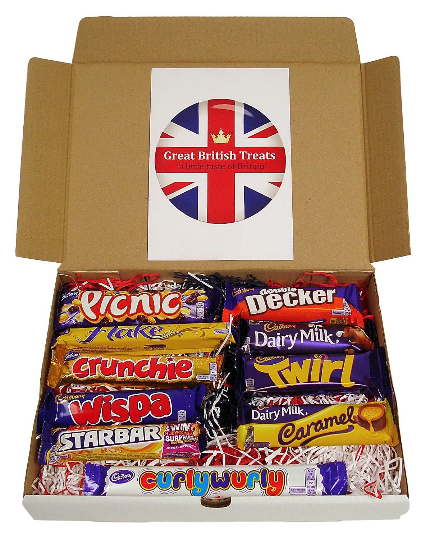 Amazon.com : Cadbury Selection Box of 10 Full Size British ...