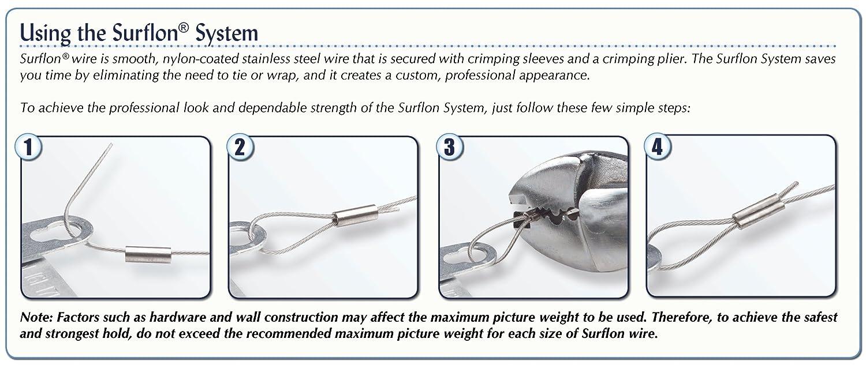 Amazon.com: Surflon Size 4 - 60-Pound Break 1000-Feet Crimping ...