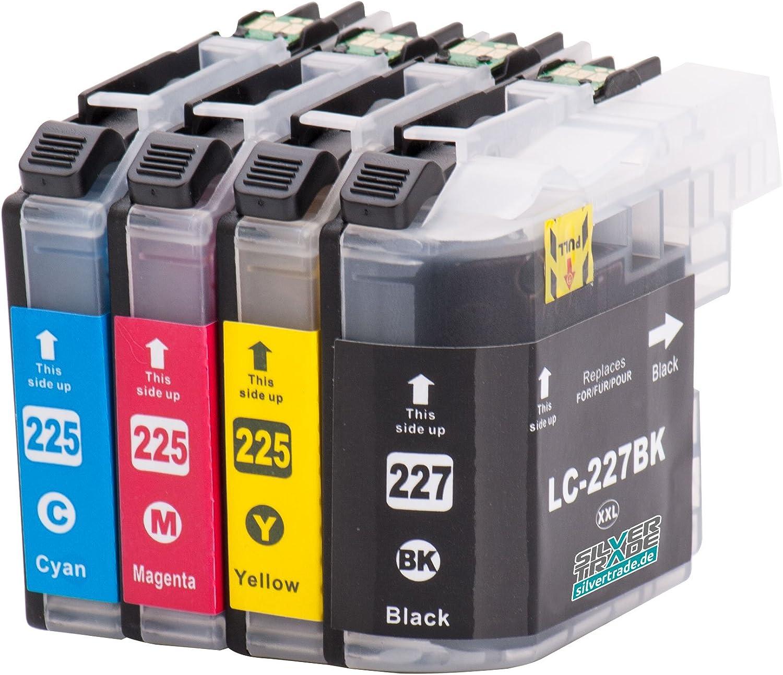 4 Cartuchos de tinta compatibles para Brother LC227XL / LC225XL ...