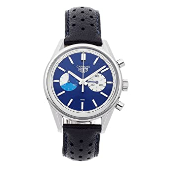 48ed19e13b0d8 Image Unavailable. Image not available for. Color  Tag Heuer Carrera  Mechanical (Automatic) Blue Dial Mens Watch ...