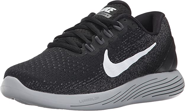 Nike Wmns Lunarglide 9, Zapatillas de Running para Mujer, Multicolor (Black/White/Dark Grey/Wolf Grey 001), 41 EU: Amazon.es: Zapatos y complementos