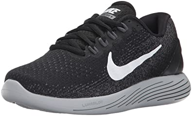 pretty nice 39b0b e29da Nike Women s Lunarglide 9 Running Shoe (5, Black White Dark Grey