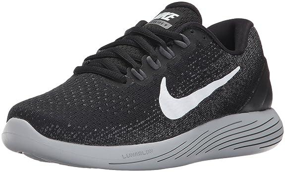 Nike Damen Wmns Lunarglide 9 Laufschuhe Mehrfarbig (Black/White/Dark Grey/Wolf Grey)