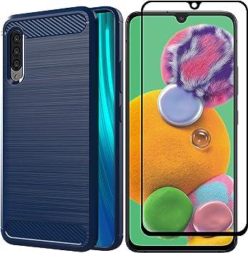 AOYIY Funda Samsung Galaxy A90 5G con Protector de Pantalla,[2 en ...