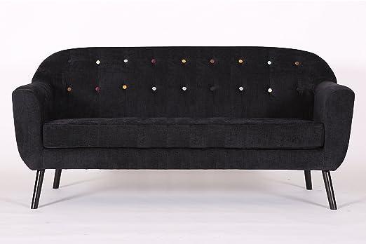 D PRO T Retro - Sillón de Lino con diseño Curvado para salón ...