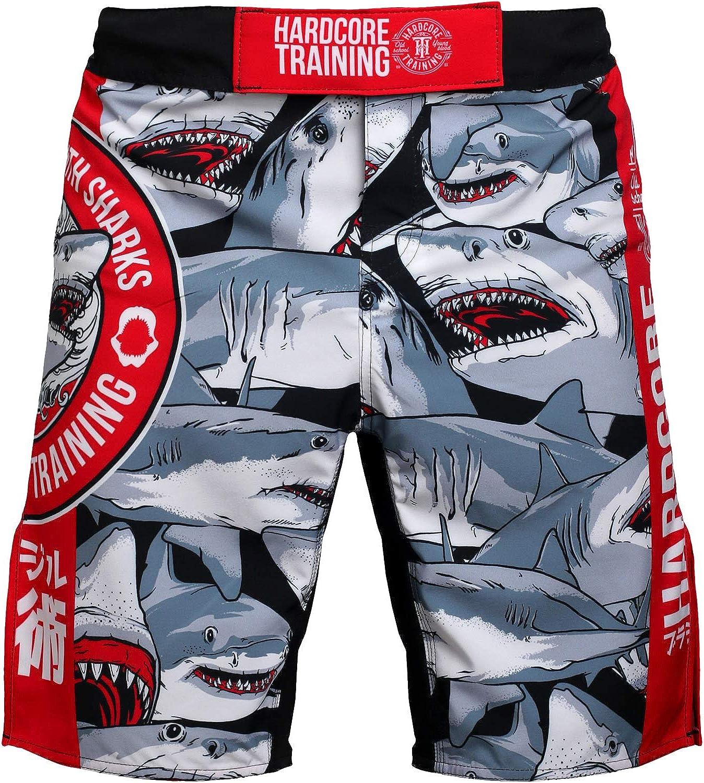 Hardcore Training Angry Vitamins Noir Homme Combat Shorts Arts Martiaux MMA BJJ Fitness Muay Thai Boxe Grappling No Gi