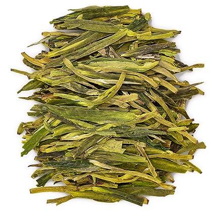 Amazon Com Oriarm 250g 8 82oz Xihu Longjing Tea Loose Leaf Chinese Long Jing Dragon Well Green Tea Leaves Spring Dragonwell Tea Ecologically Grown Grocery Gourmet Food