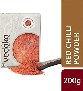 Amazon Brand - Vedaka Red Chilli (Lal Mirch) Powder, 200g
