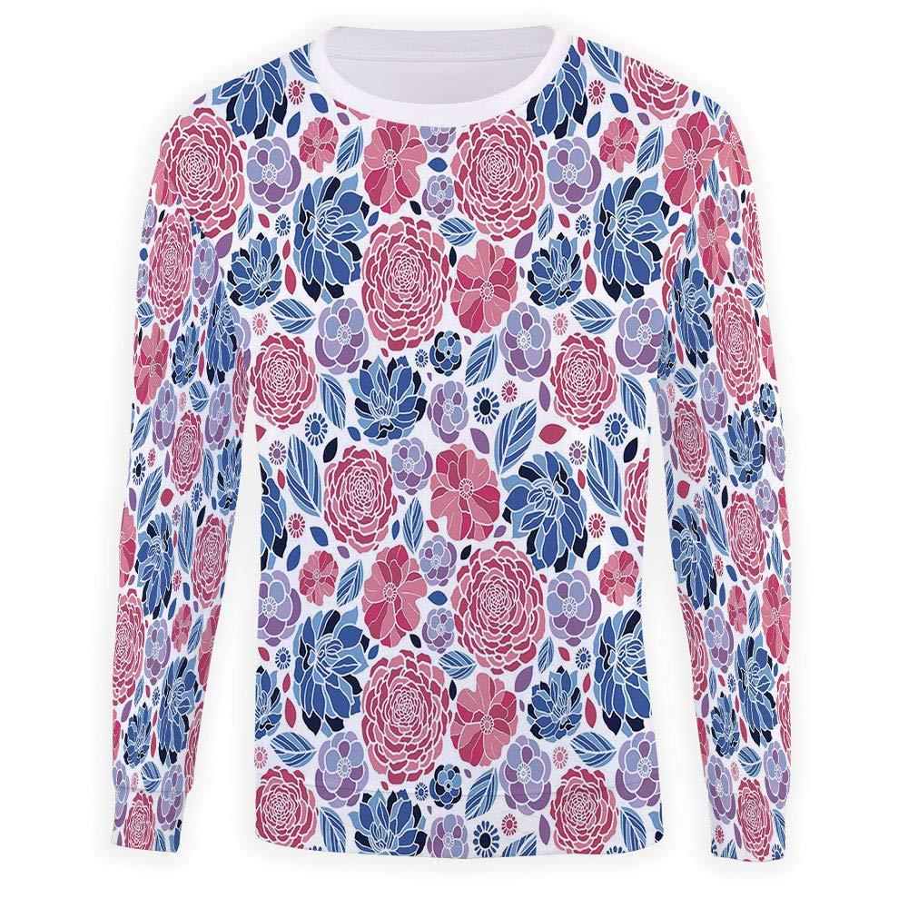 Mens Crewneck Floral Sweatshirt