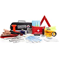 $40 » Roadside Assistance Emergency Car Kit - First Aid Kit, Jumper Cables, Tow Strap, LED Flash Light,…