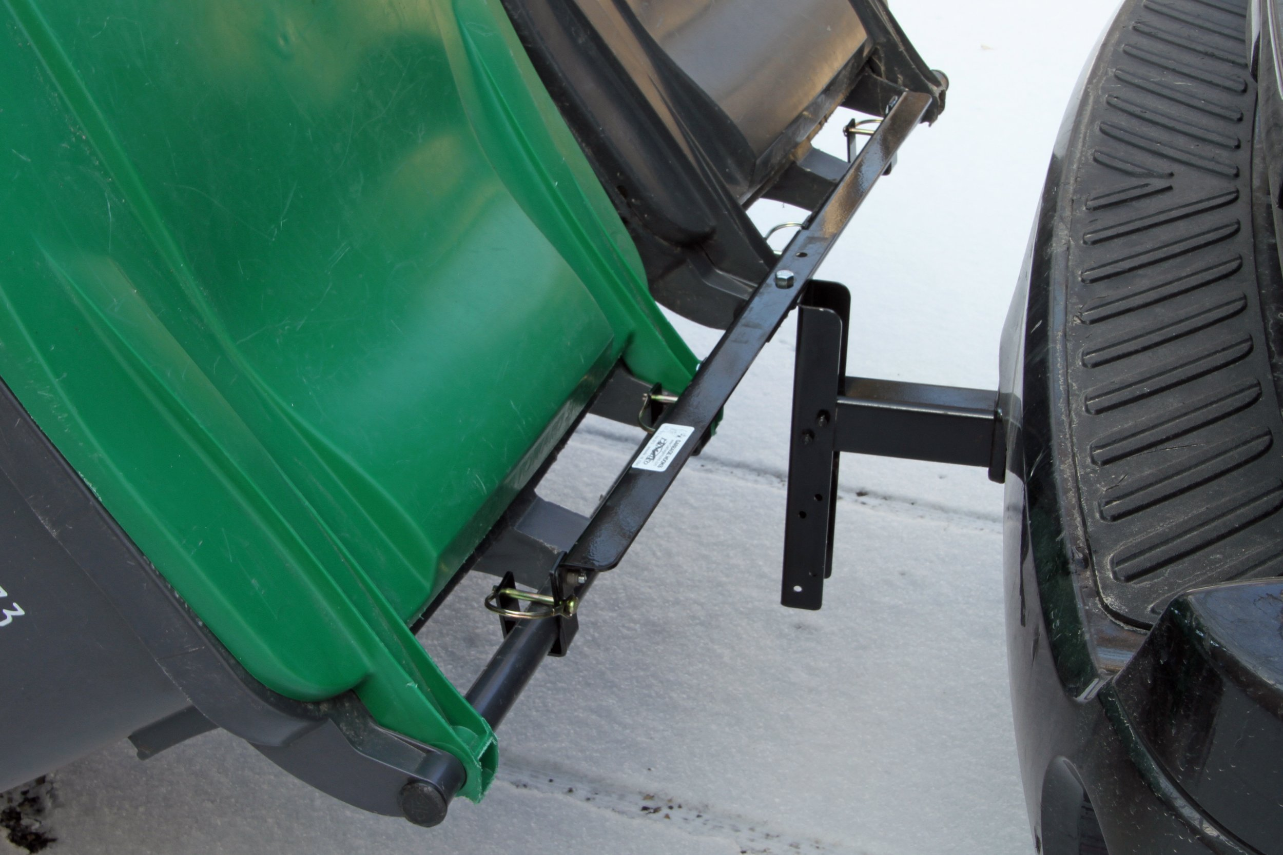 Dual-Can Garbage Hauling Hitch cans Cannot Come Loose. Garbage Hooks are The Perfect Solution for Getting Wheeled Garbage constrainers Out When You Have a Long/steep Driveway, or challenging Terrain by Garbage Commander (Image #3)