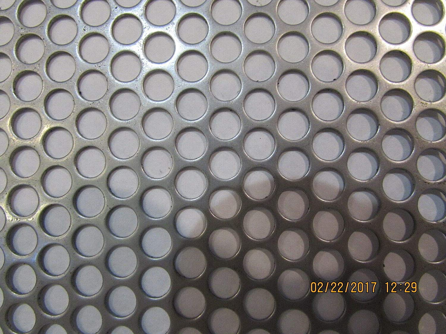 20 gauge Price per 10 square inch Perforated 304 Stainless Steel 1//4 inch hole
