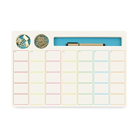 Delicieux Three By Three Seattle Jot BLOCK Monthly Planner Blue (70051)