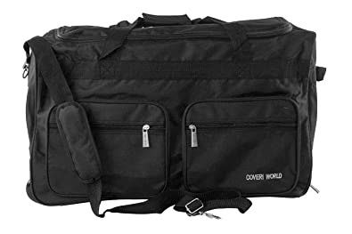 35cc270d33 Gym bag COVERI WORLD black duffel travel with trolley M214  Amazon ...