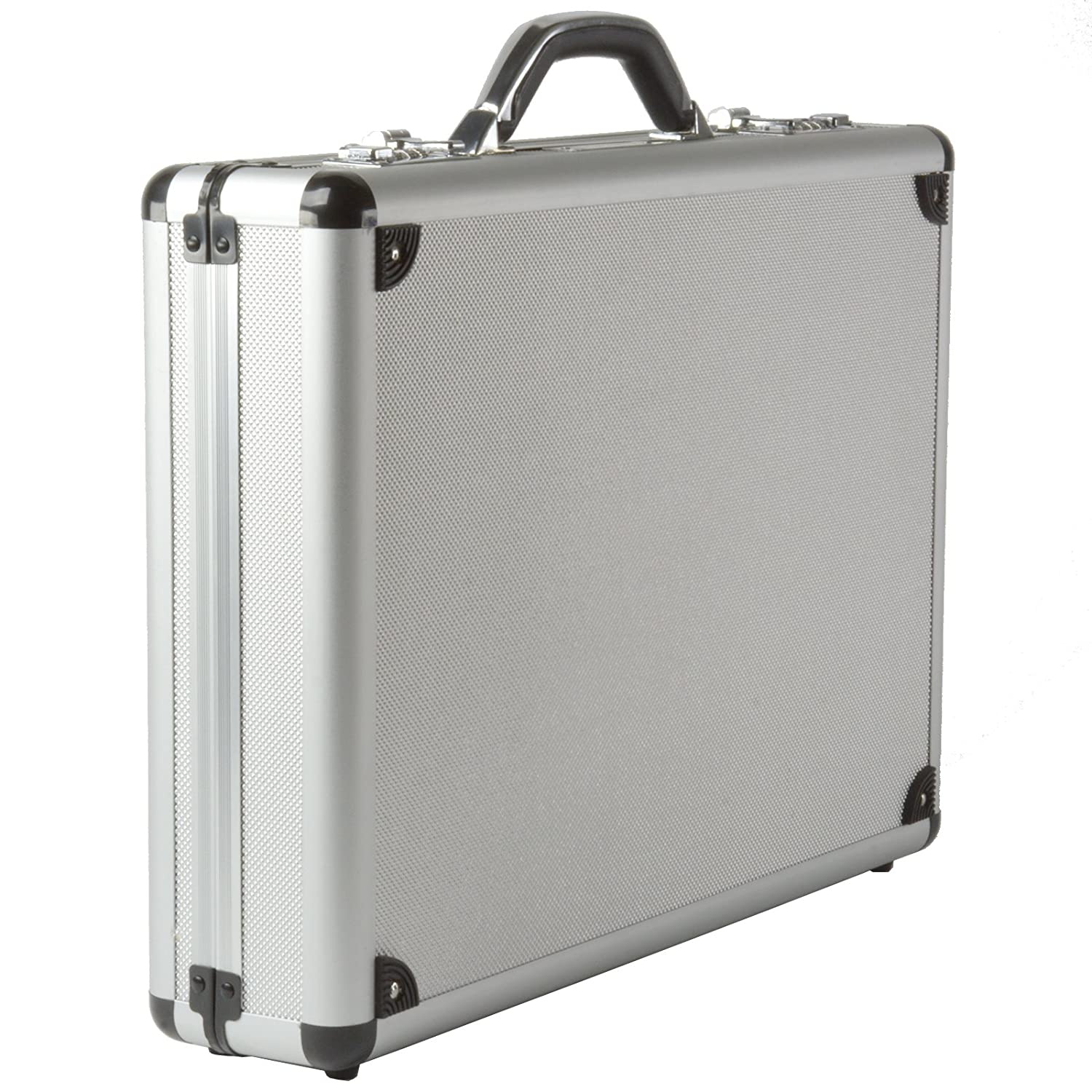 Alpine Swiss Aluminum Attaché Case Padded Laptop Briefcase Combo Lock Hard Sided By Alpine Swiss