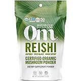 Om Organic Mushroom Nutrition Supplement Reishi: Adaptogen, Immune Support, Longevity, 50 servings, 3.57oz, 100 Gram