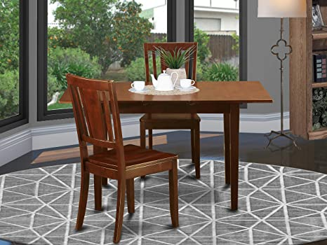 Amazon Com 3 Pc Small Dinette Set Dining Tables For Small Spaces And 2 Dining Chairs Table Chair Sets