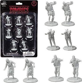 Monster Protectors DND Miniatures- Mini figuras de zombies, tamaño hexagonal de 1