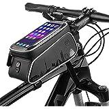 トップチューブバッグ 自転車 バッグ フレームバッグ 防水 タッチスクリーン 自転車かばんフロントバッグ大容量 6.0インチ対応 iPhone8 X8 7 6 6S/Samsung/Sonyなど対応