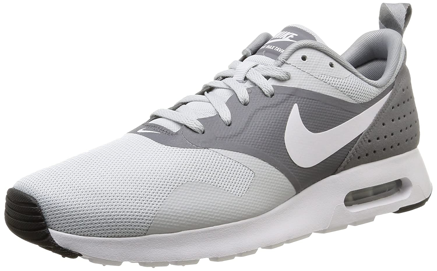 Amazon.com | Nike Air Max Tavas Essential Running Sneakers (8, Grey/White)  | Road Running
