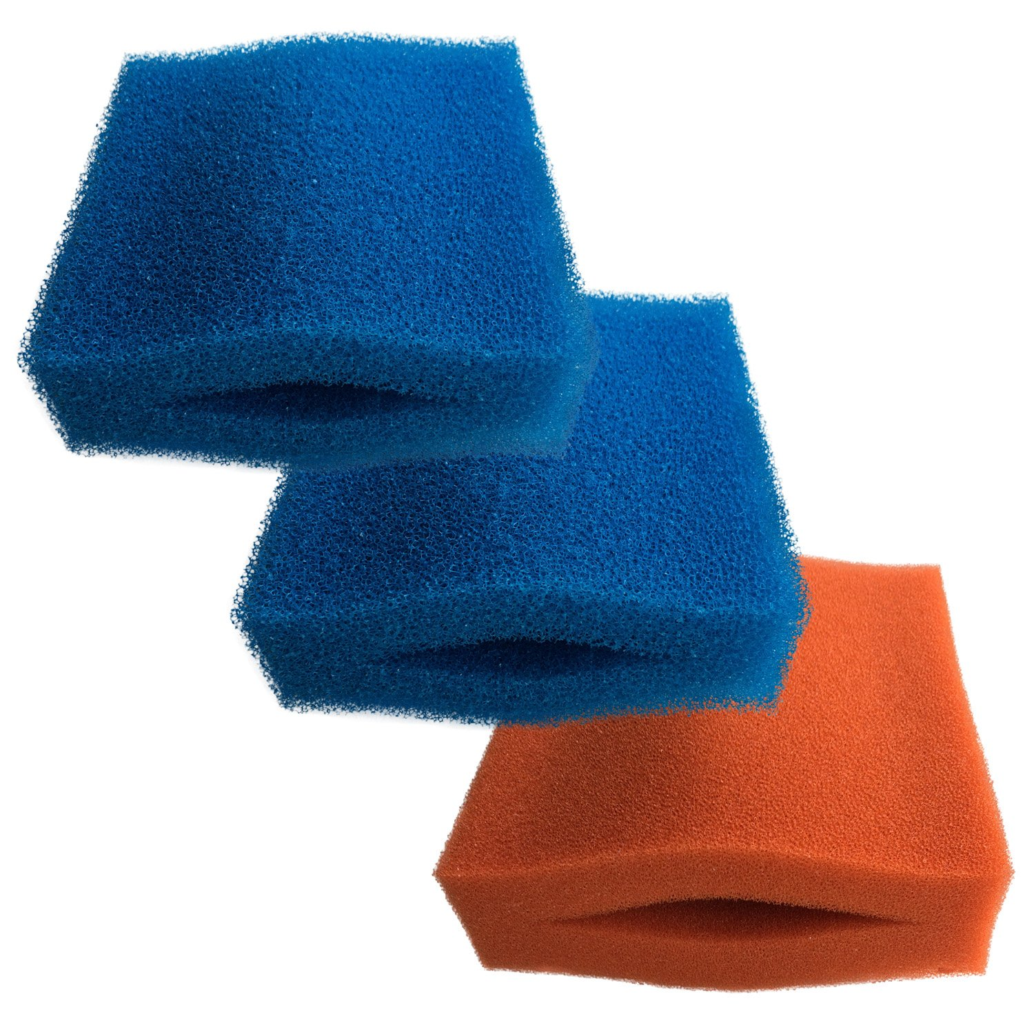 Finest-Filters Oase Biotec 5 10 30 Replacement Filter Foam Set (2 x bluee Coarse and 1 x Red Fine Foam)