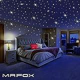 夜光明星适用于天花板或墙贴 - 发光墙贴贴纸房装饰套件 - 银河发光星套装和太阳能系统贴纸儿童卧室装饰