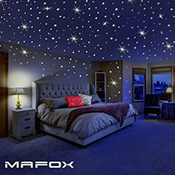 Glow In The Dark Stars For Ceiling Or Wall Stickers Glowing Wall Decals Stickers Room Decor Kit Galaxy Glow Star Set And Solar System Decal For