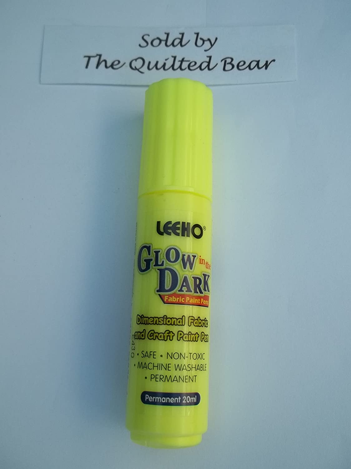 Glow in the Dark Fabric Paint Pen giallo