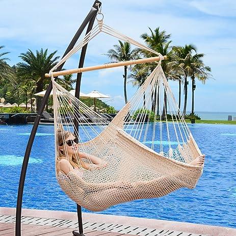 lazy daze hammocks hanging caribbean hammock chair soft spun cotton rope 40 inch amazon     lazy daze hammocks hanging caribbean hammock chair      rh   amazon